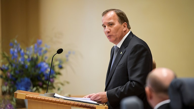Swedish Prime Minister Stefan Löfven speaks at the opening of Parliament on Tuesday.