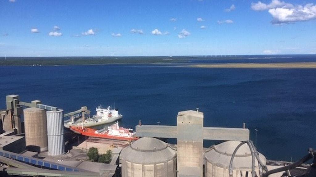 Cementa's port in Gotland.