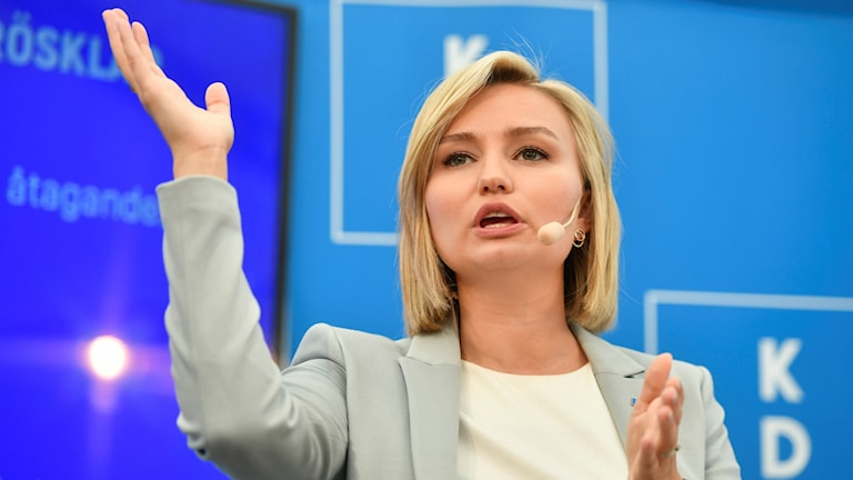 Christian Democratic party leader Ebba Busch Thor
