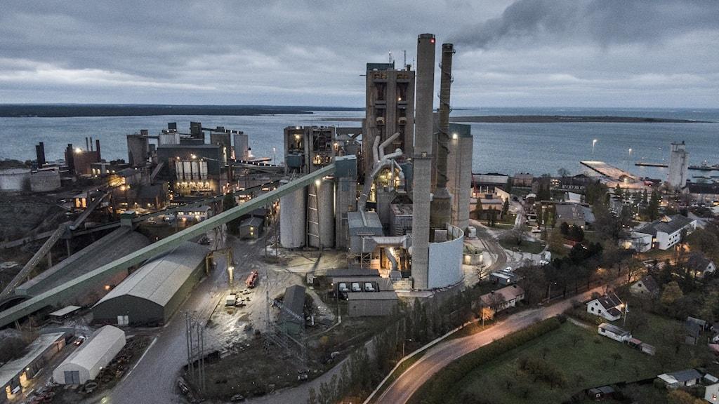 Cementas factory in Slite, Gotland.