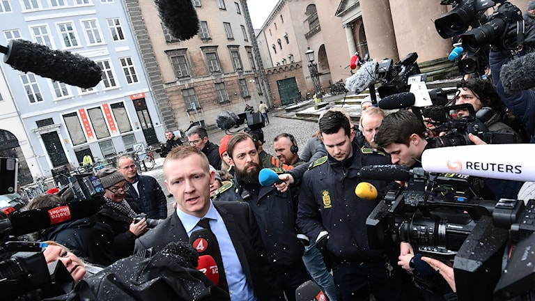 Danish prosecutor Jakob Buch-Jepsen heading into court on Thursday.