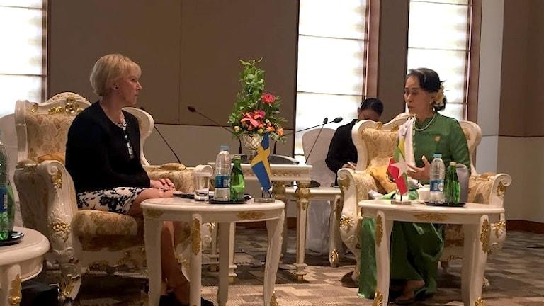 Wallström meets Aung San Suu Kyi