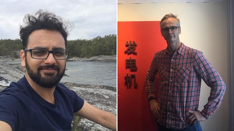 Rameez Hussain (left), CEO Jörgen Eng (right)