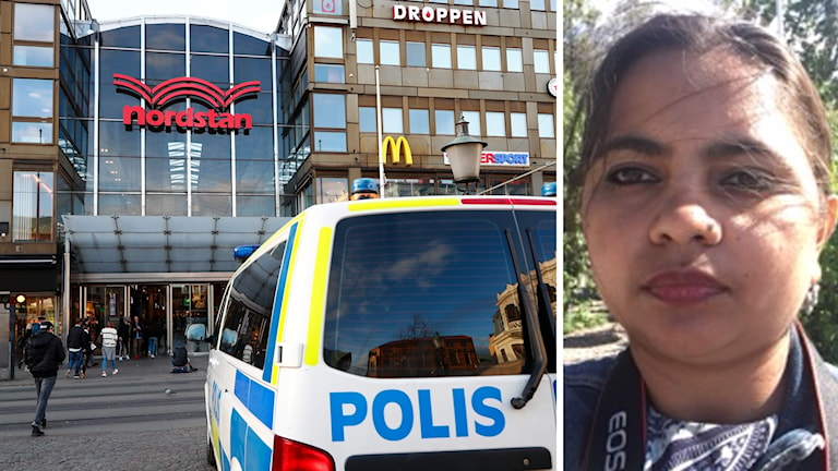 Shalini Singh and the Nordstan shopping centre where she was sexually harassed.