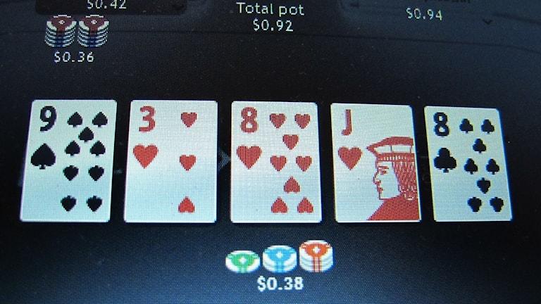 An online gambling game