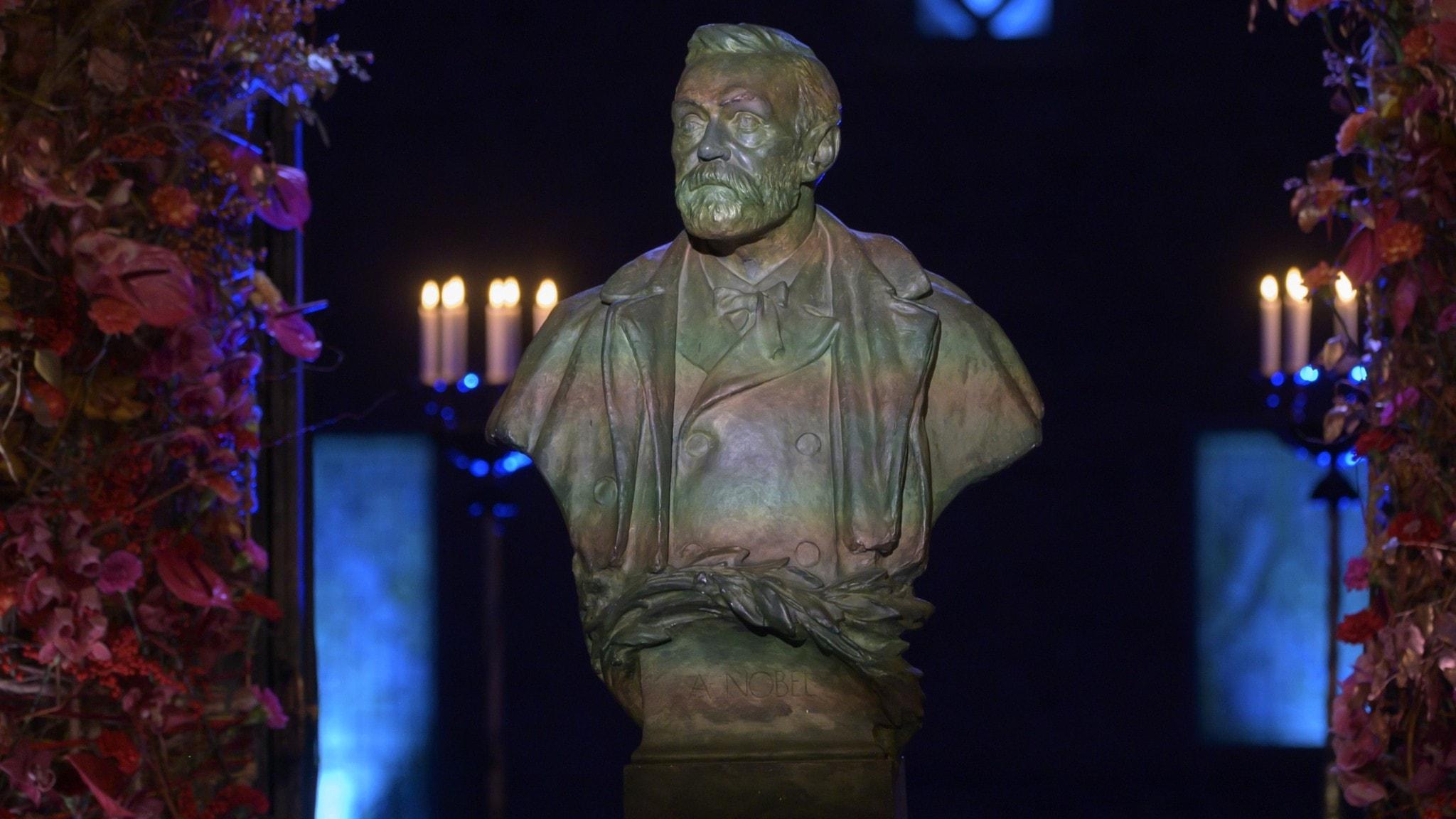 A bust of a man.