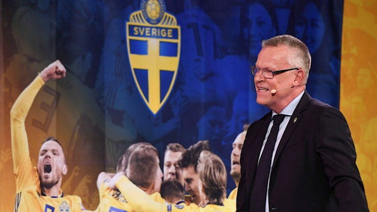 National team manager Janne Andersson presents his 23-man squad for the 2018 World Cup in Russia.