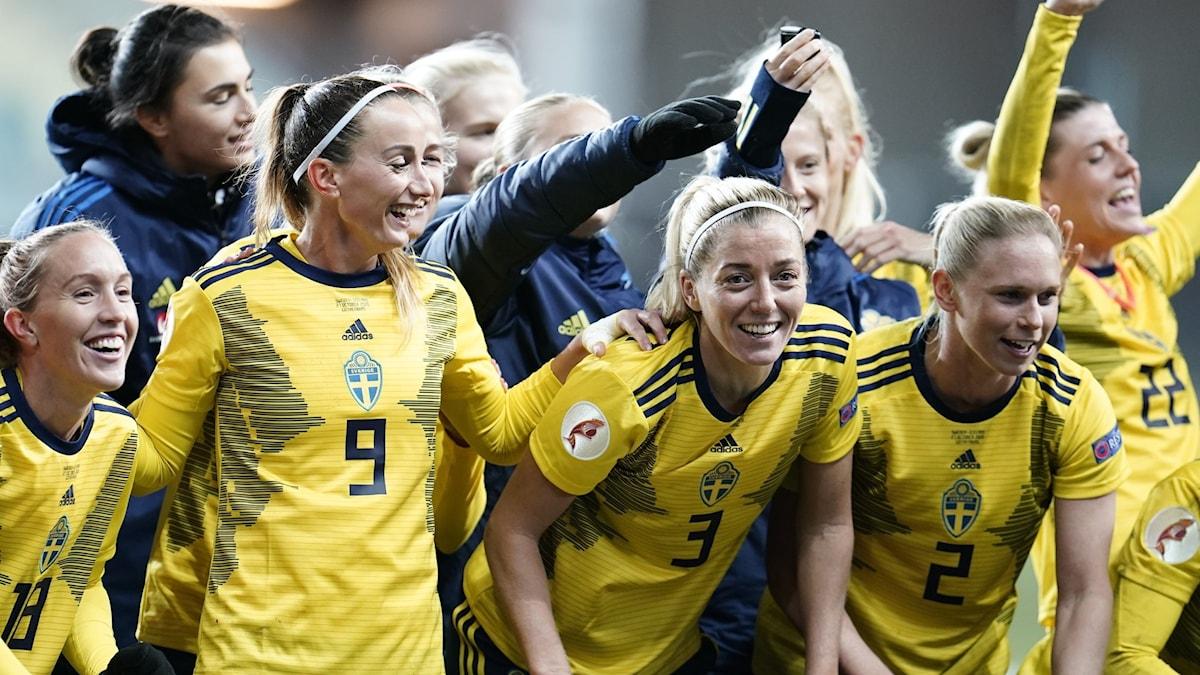 Sweden celebrate their qualification