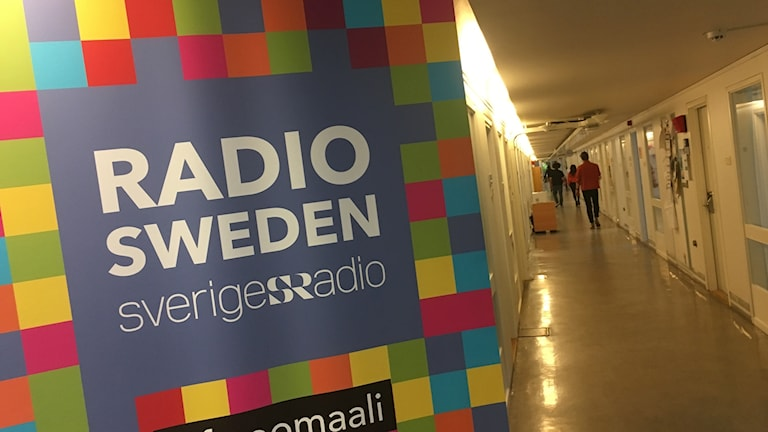 A sign for Radio Sweden.