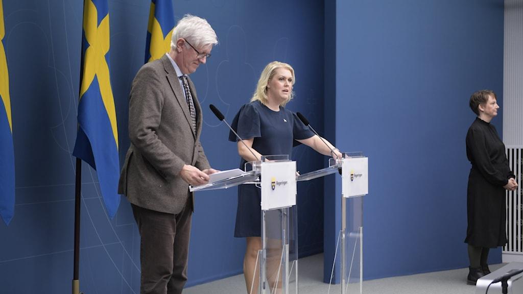 Johan Carlsson and Lena Hallengren