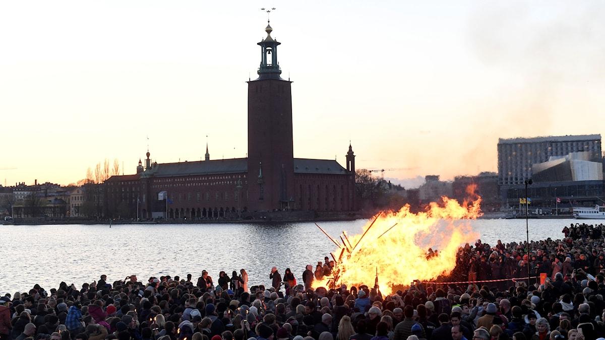 Bonfire at Valborg