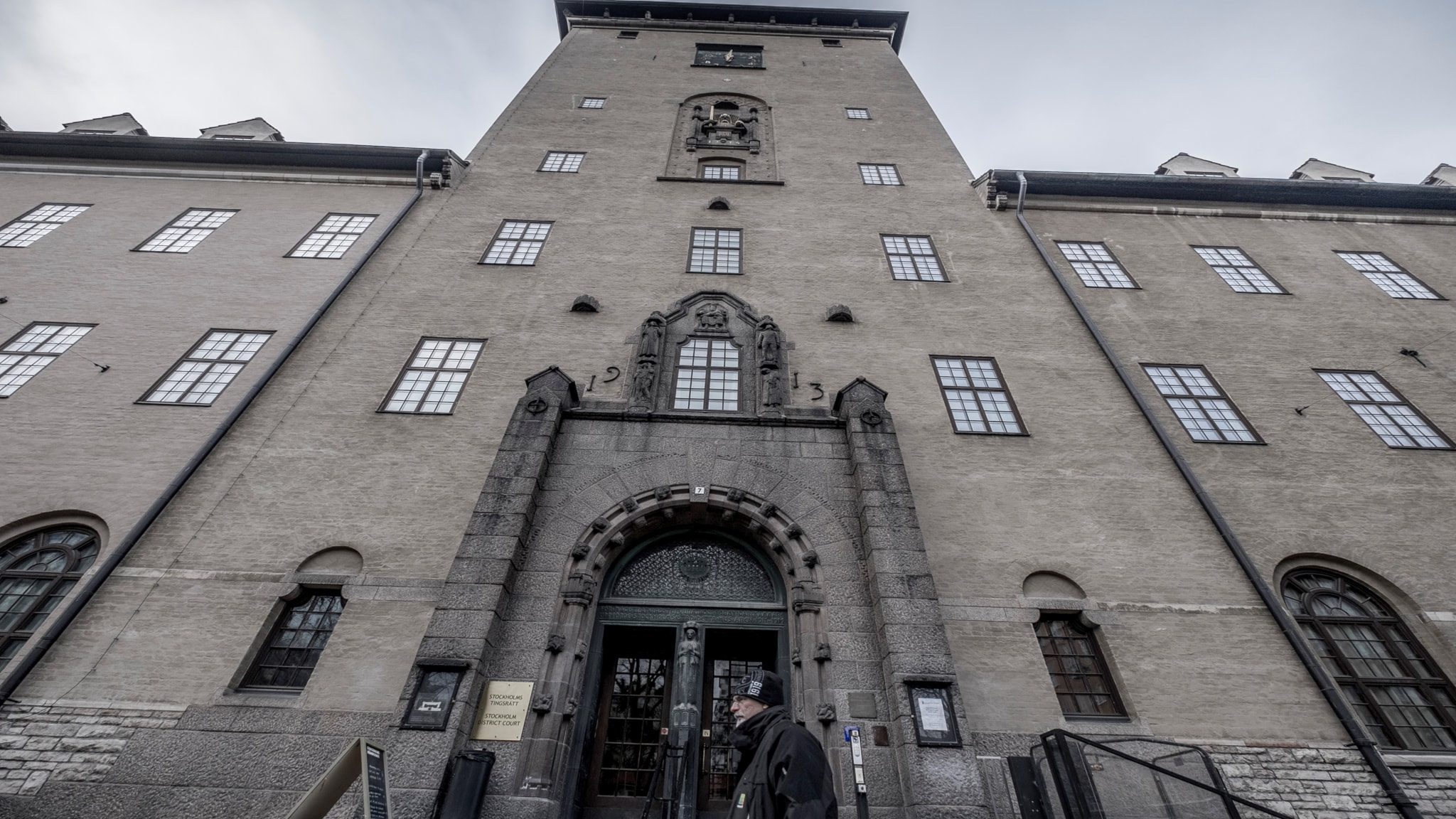 The outside of the District Court of Stockholm