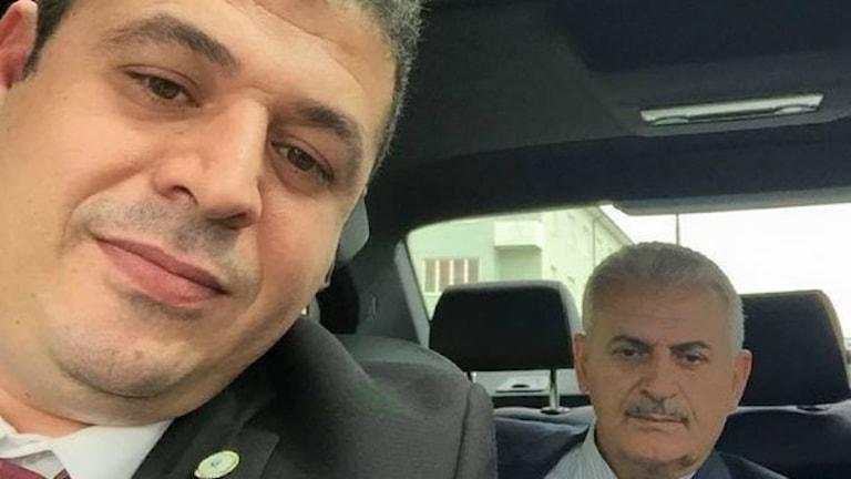 Özer Eken with his friend Binali Yıldırım, Turkey's prime minister. Photo: Facebook