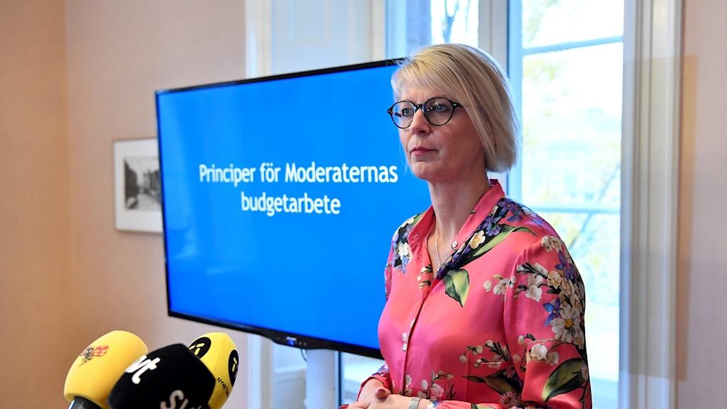 Elisabeth Svantesson, the Moderate spokesperson on economic affairs.