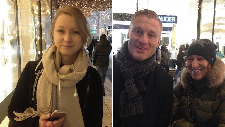 Från vänster till höger Alexandra, Johan Blomberg och Carin Bergqvist från Stockholm.