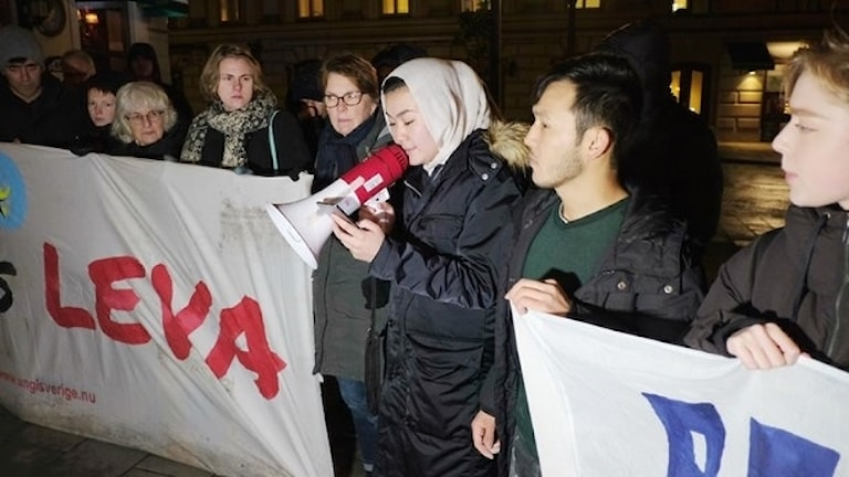 Ung i Sverige protest