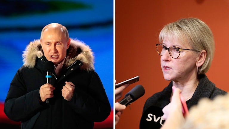 Swedish Foreign Minister Margot Wallström has criticized the re-election of Vladimir Putin.