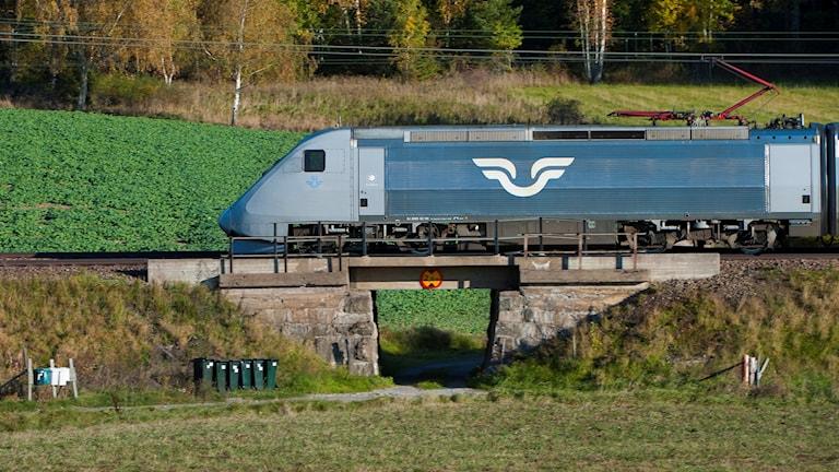 The Swedish high-speed train X2000. Photo: Jonas Ekströmer/TT