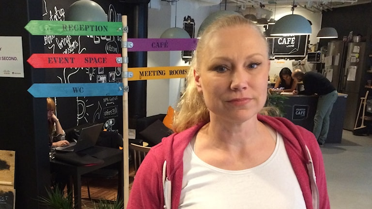 Annika Lidne runs a startup company in Stockholm and also lobbies on behalf of the startup community.