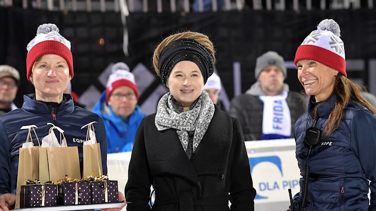 Amanda Lind in Stockholm for the parallel slalom