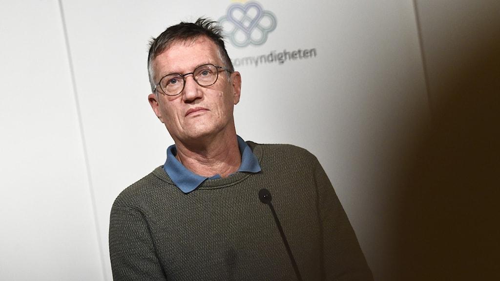 A man at a press conference
