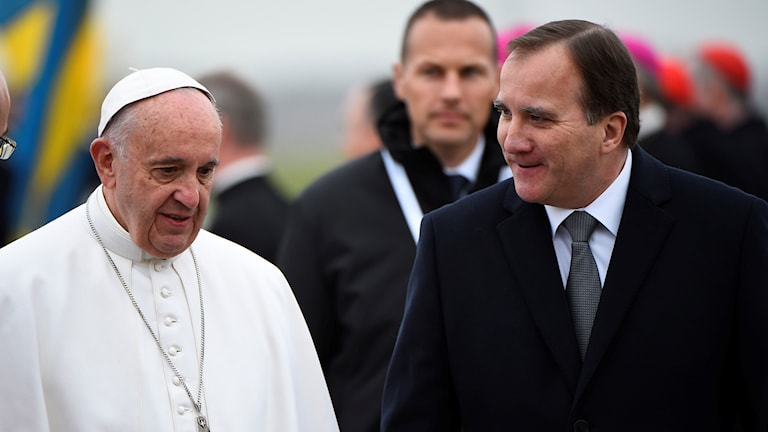 The Pope and Stefan Löfven