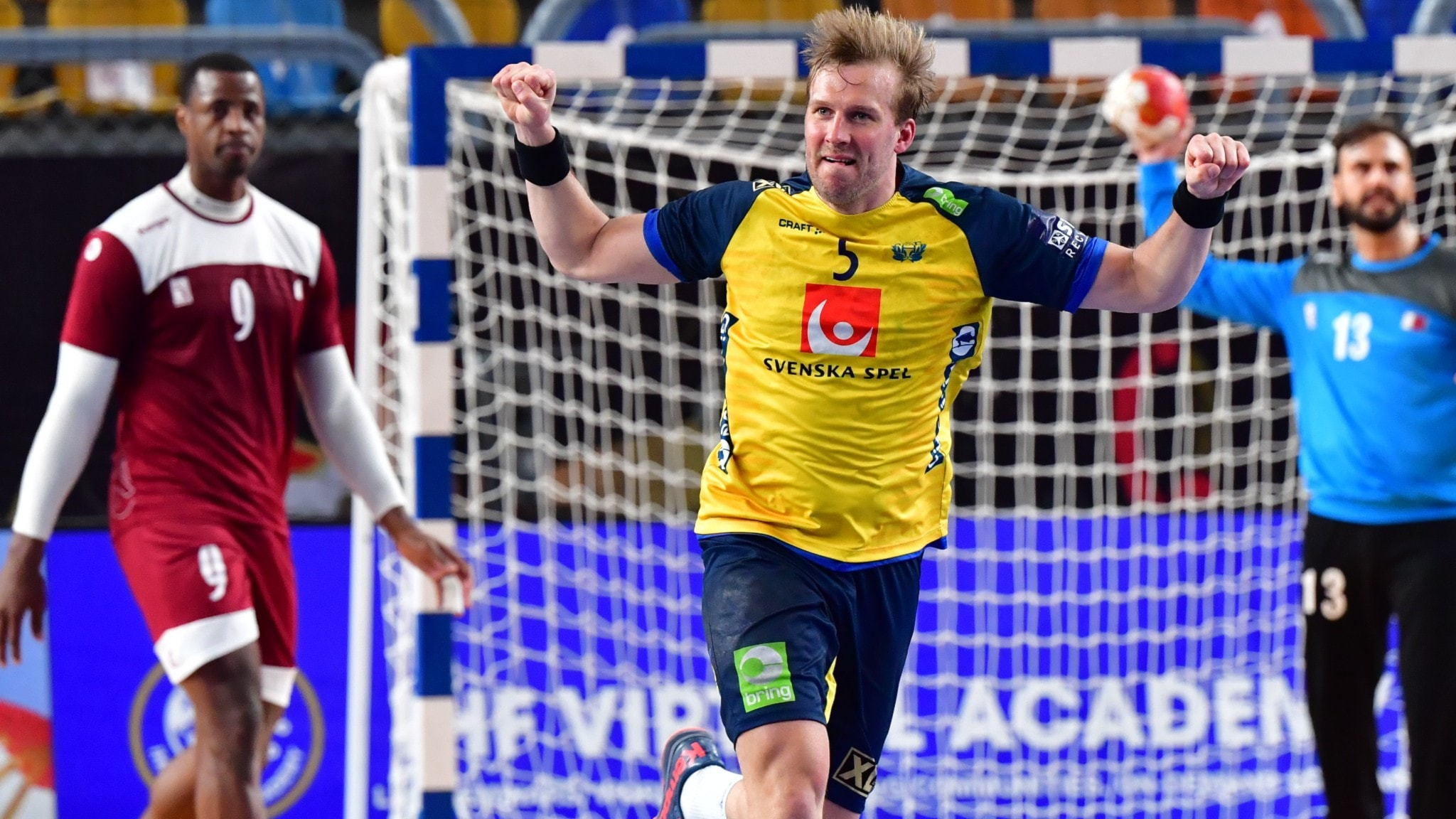 A swedish handball player.