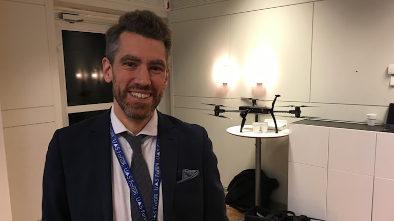 Joel Sköld, lawyer and expert on drone laws