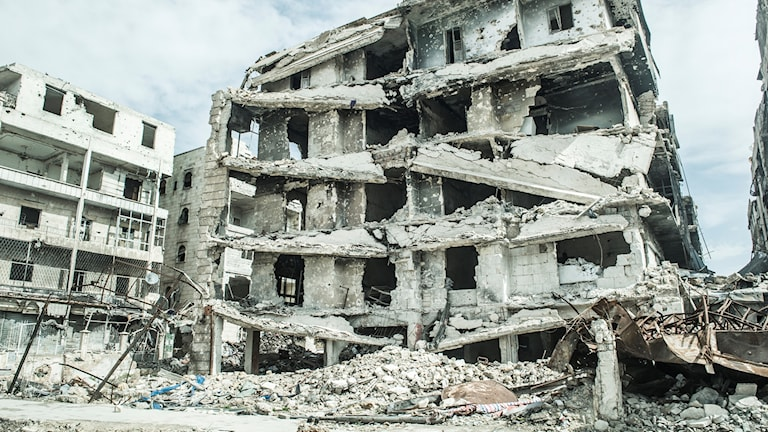 A house in Aleppo in ruins