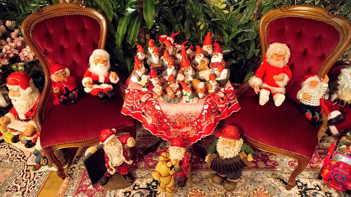 Sweden's 'tomtar', or santas, are all ready for the podcast.