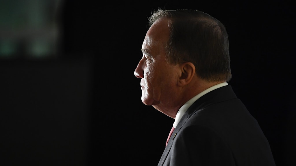 Silhouette of prime minister Stefan Löfven.