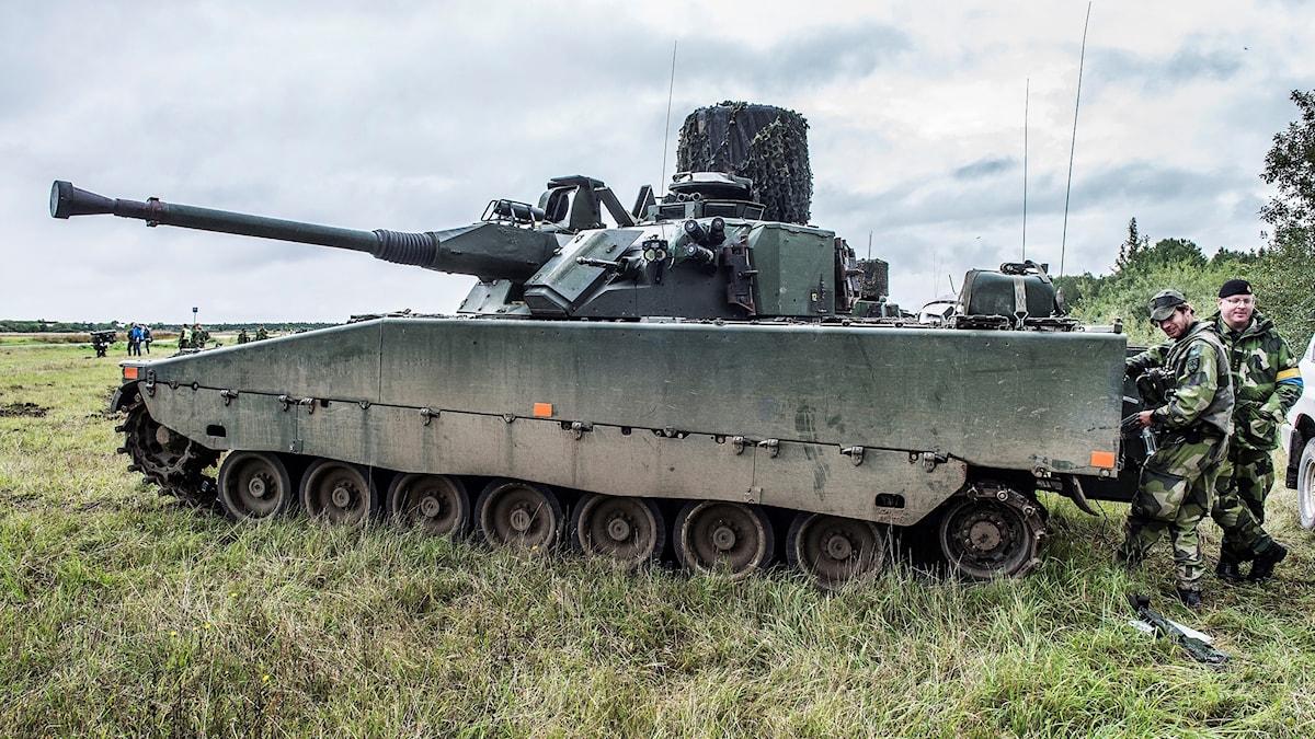 An armoured military vehicle