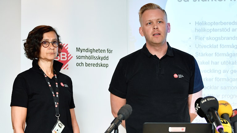 Jakob Wernerman and Anneli Bergholm Söder from the Civil Contingencies Agency.