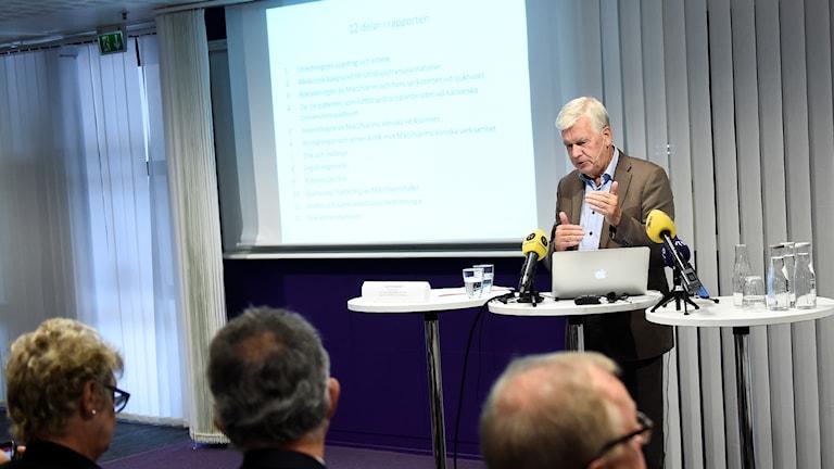 Report author Dr. Kjell Asplund. Photo: Stina Stjernkvist / TT.