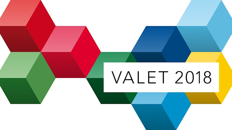 """The phrase """"Valet 2018"""" against a pattern of multi-colored cubes"""