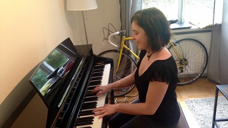 Weronika playing the piano