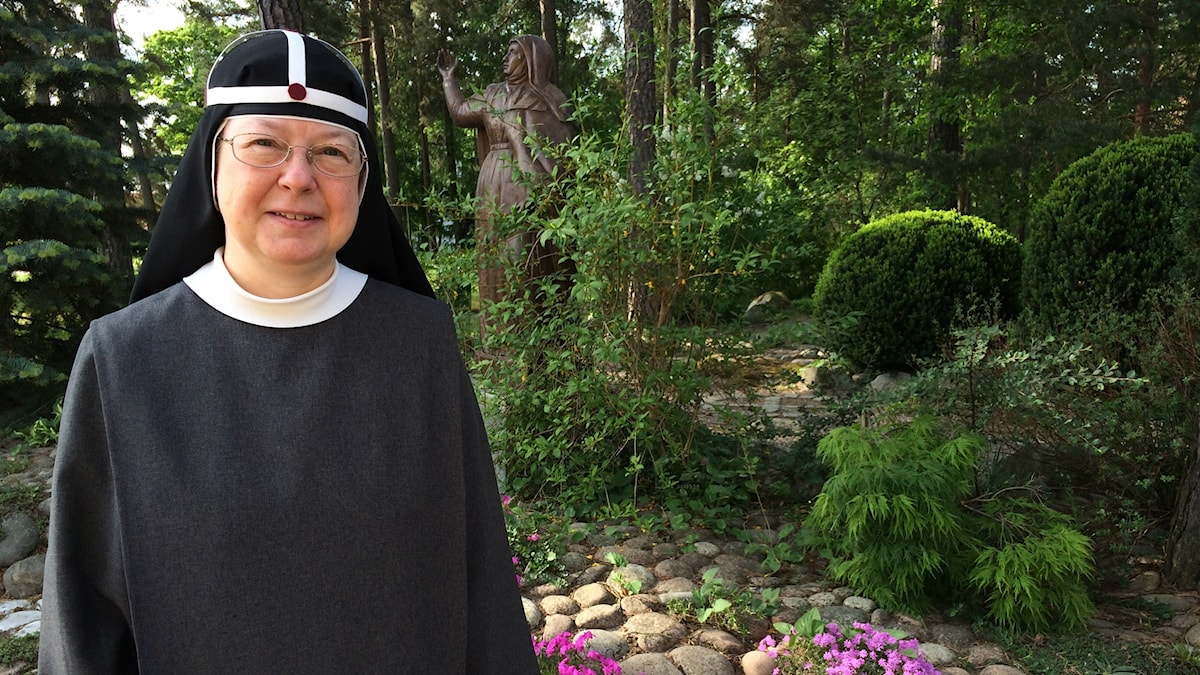 Sister Beata, at the St Birgitta Convent in Djursholm, is on her way to Rome for the canonization of the Swede Elisabeth Hesselblad. Photo: Brett Ascarelli / Radio Sweden.