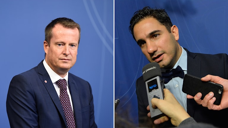 Home Affairs Minister Anders Ygeman and Minister for Public Administration Ardalan Shekarabi