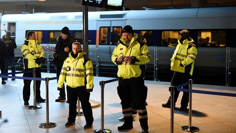 A private security firm was hired to check IDs when the checks began at Kastrup Airport in January 2016.
