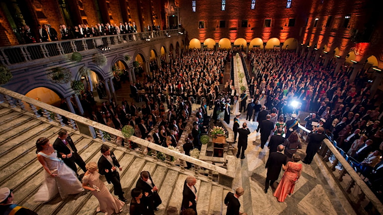 Nobel banquet at City Hall.