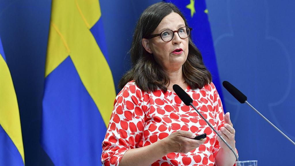 Swedish Education Minister Anna Ekström.