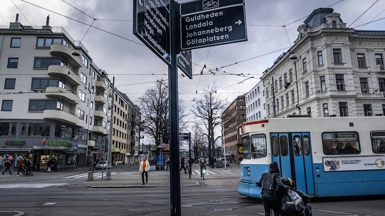 A tram in Gothenburg.
