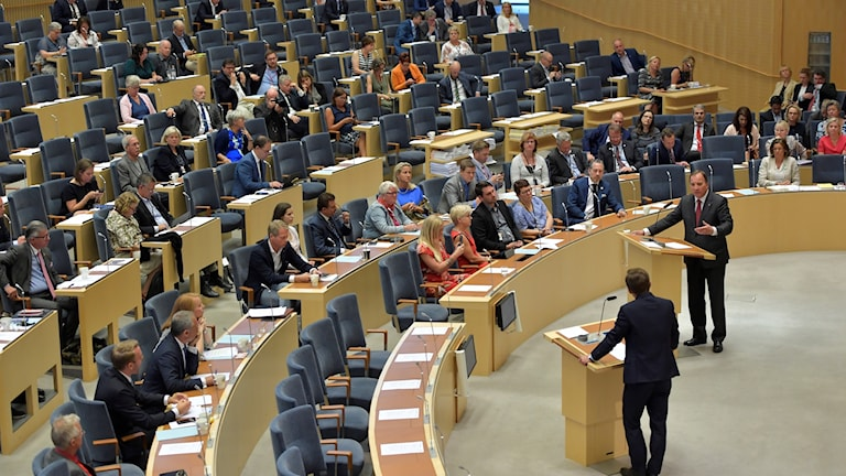 The Swedish parliament during the debate