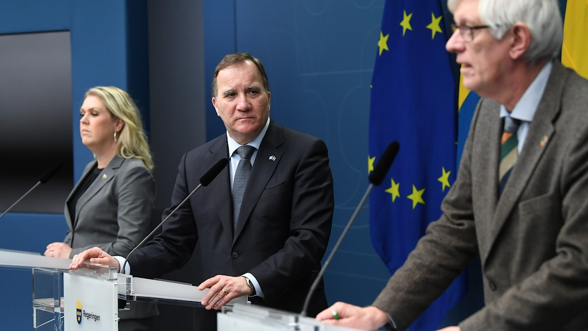 Prime Minister Stefan Löfven presented the new pandemic law at a press conference Friday.