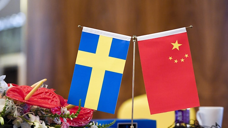 China and Sweden flags