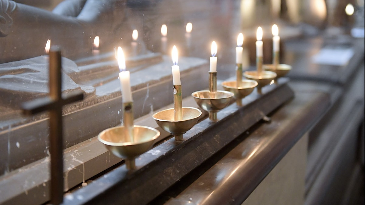 Candles in Stockholm Cathedral