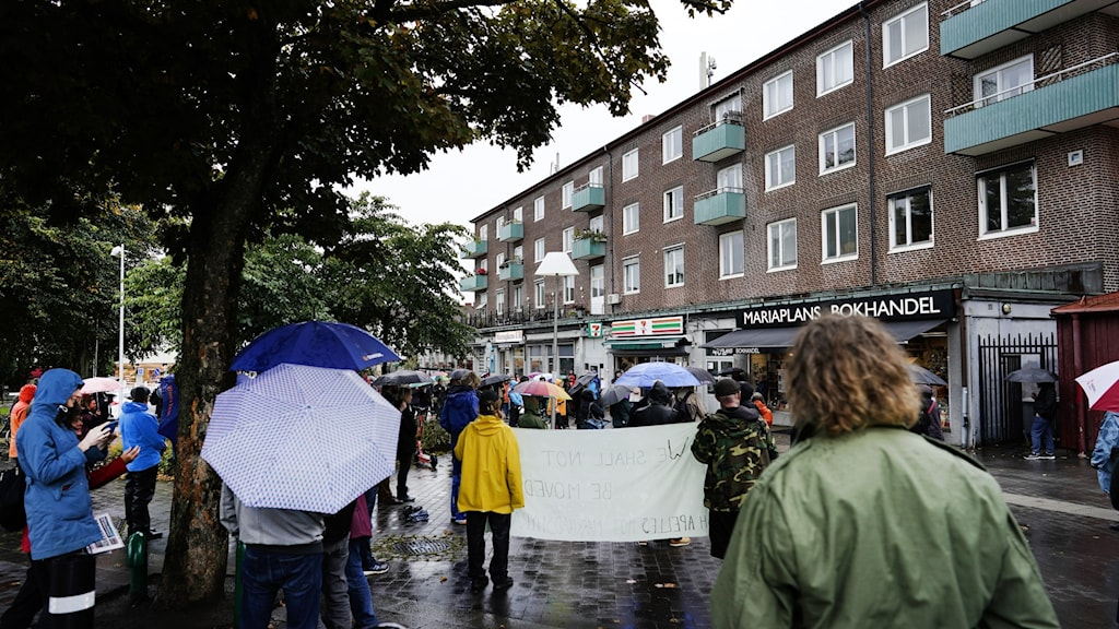 People demonstrating in a street