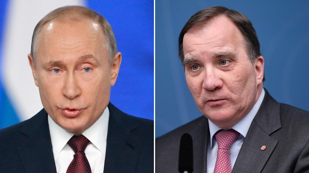Vladimir Putin and Stefan Löfven
