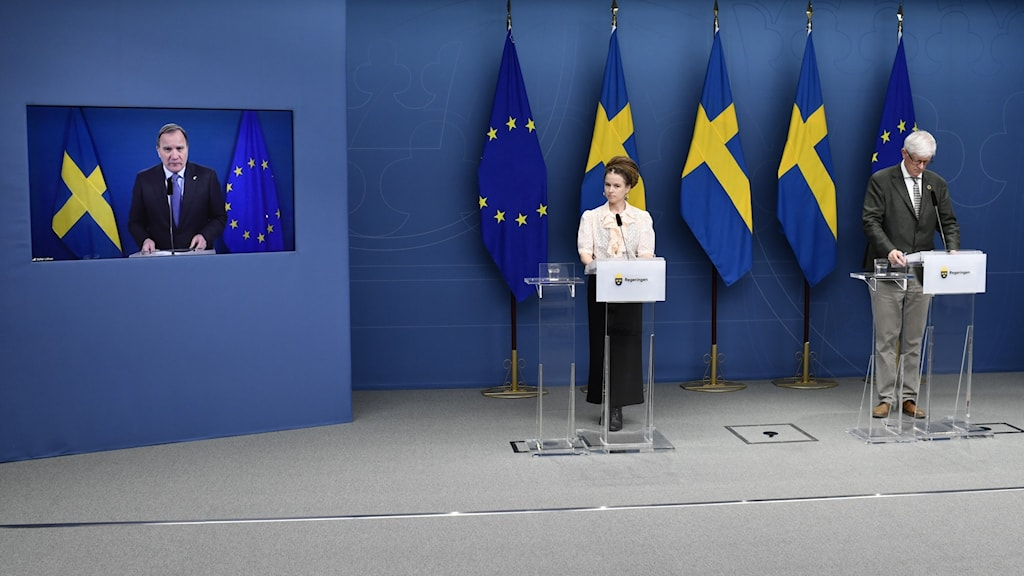 A press conferance with prime minister Stefan Löfven.