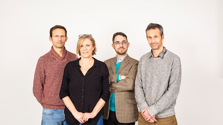 A picture of some of the members of the Radio Sweden team.